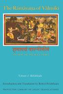 The R  m  ya   a of V  lm  ki  An Epic of Ancient India  Volume I