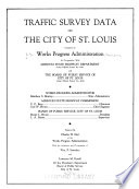 Traffic Survey Data on the City of St  Louis