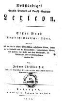 Vollst  ndiges Englisch Deutsches und Deutsch Englisches Lexikon