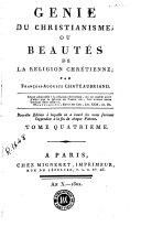 Génie du christianisme, ou, Beautés de la religion chrétienne, 4