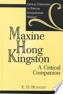 Maxine Hong Kingston Book PDF