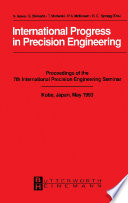 International Progress In Precision Engineering Book PDF