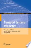 Transport Systems Telematics Book PDF