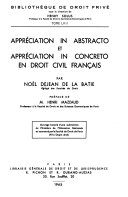 Appréciation in abstracto et appréciation in concreto en droit civil français