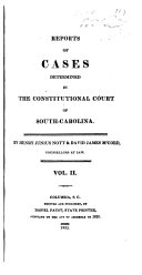 Reports of Cases Determined in the Constitutional Court of South Carolina