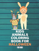 Kids Animals Coloring Book For Halloween