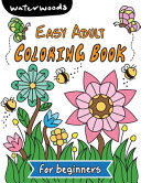 Easy Adult Coloring Book for Beginners