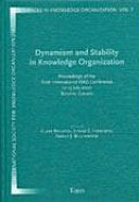 Dynamism And Stability In Knowledge Organization Book PDF