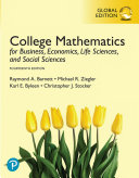College Mathematics for Business  Economics  Life Sciences  and Social Sciences  EBook  Global Edition