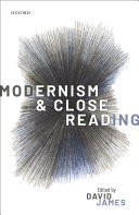 Pdf Modernism and Close Reading Telecharger