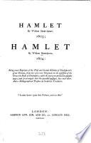 Hamlet 1603 Hamlet 1604