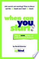 When Can You Start  Book