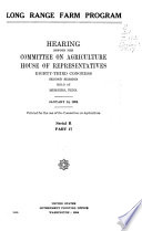 Hearing S Before The Committee On Agriculture House Of Representatives Eighty Third Congress First Session