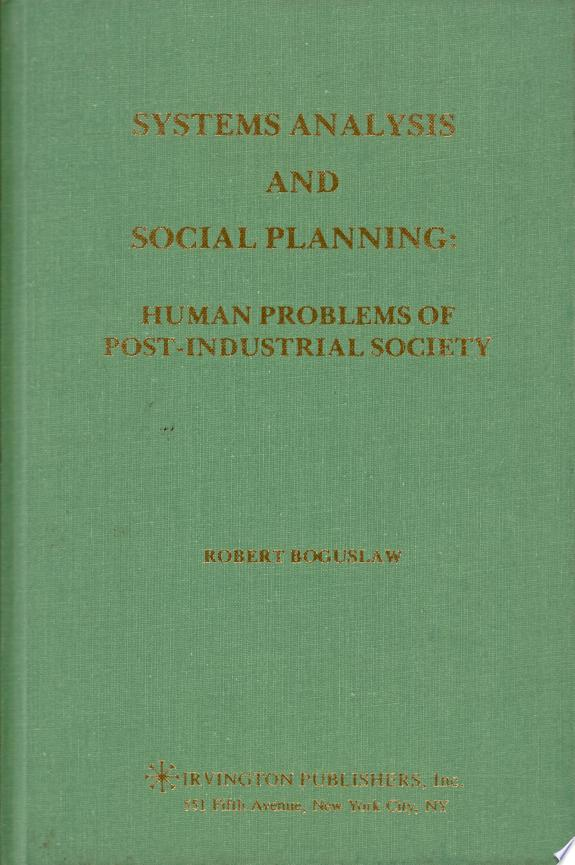 Systems Analysis and Social Plannin