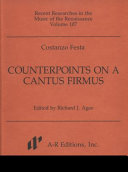 Counterpoints on a cantus firmus