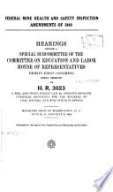 Federal Mine Health and Safety Inspection Amendments of 1949