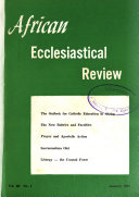 AFER  African Ecclisiastical Review
