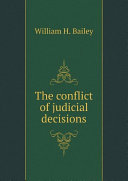 The conflict of judicial decisions
