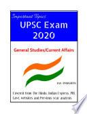 Most Important Topics for UPSC IAS Exam 2020