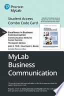 Excellence in Business Communication Mylab Bcomm Combo Access Card
