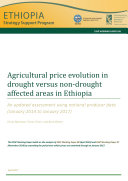 Agricultural price evolution in drought versus non drought affected areas in Ethiopia