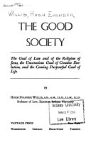 The Good Society Book