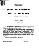 Joint Acquisitions List Of Africana