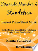 Serenade Standchen Number 4 Easiest Piano Sheet Music Book