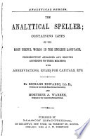The Analytical Speller Book PDF