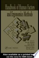 """Handbook of Human Factors and Ergonomics Methods"" by Neville Anthony Stanton, Alan Hedge, Karel Brookhuis, Eduardo Salas, Hal W. Hendrick"