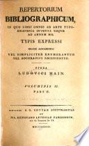 Repertorium bibliographicum
