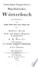 Physikalisches Wörterbuch  : Sach- und Namen-Register , Band 11