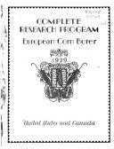Complete Research Program  European Corn Borer  1929