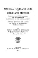 Natural Food and Care for Child and Mother Book PDF
