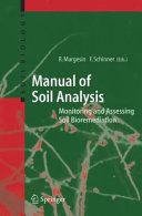 Pdf Manual for Soil Analysis - Monitoring and Assessing Soil Bioremediation Telecharger