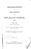 Transactions of the Royal Society of New Zealand