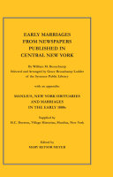 Early Marriages from Newspapers Published in Central New York