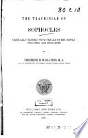 The Trachiniae of Sophocles Book