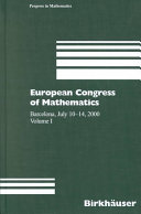 European Congress of Mathematics, Barcelona, July 10-14, 2000