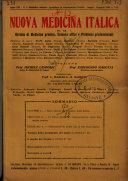 Nuova medicina italica rivista di medicina, scienze affini e problemi professionali