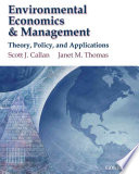 Environmental Economics and Management : Theory, Policy and Applications