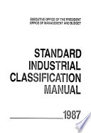 Standard Industrial Classification Manual