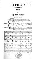 The Orpheon   A collection of songs and choruses   6 pt