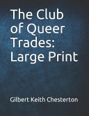 Free The Club of Queer Trades: Large Print Book