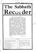 The Sabbath Recorder