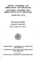 Transactions - Congress on Irrigation and Drainage