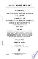 Cartel Restriction Act