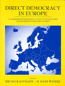Direct Democracy In Europe Book