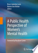 A Public Health Perspective Of Women S Mental Health Book PDF