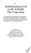Administrative Law Judge Corps Act